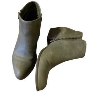 Esprit Green Zipper Booties - Women's Size 7